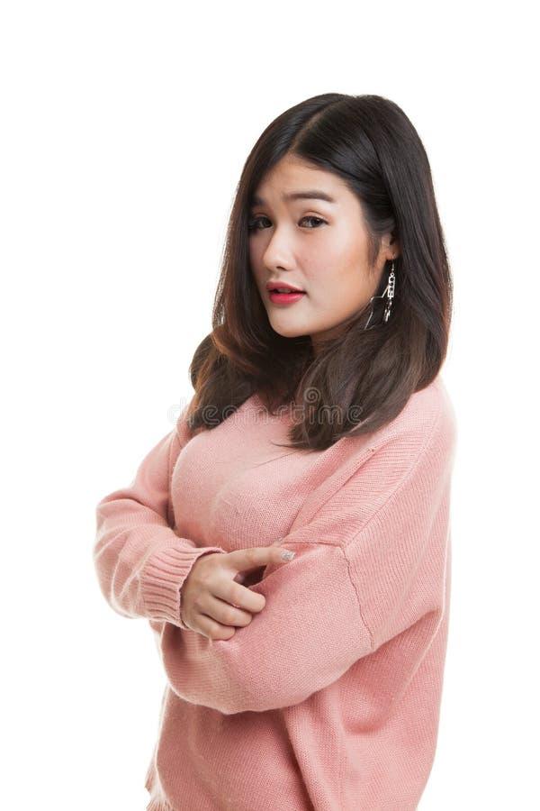 Härlig ung asiatisk kvinna royaltyfria foton