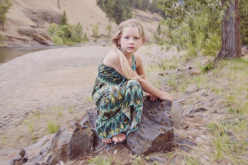 Härlig ung flicka arkivfoton