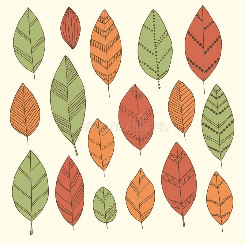Härlig uppsättning av klottertappningsidor Isolerat skissa för kort och inbjudningar för designbakgrundshälsning till bröllopet b stock illustrationer