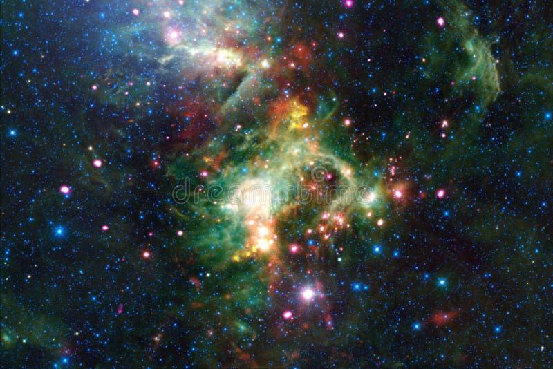 Härlig utrymmebakgrund Cosmoc konst Beståndsdelar av denna avbildar möblerat av NASA royaltyfria bilder
