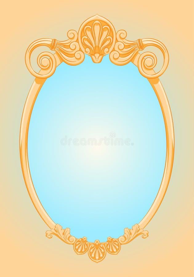 Härlig utsmyckad ellipsram royaltyfri illustrationer
