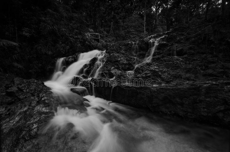 Härlig vattenfall på sik kedah,  Malaysia  arkivbilder