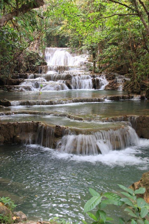 Härlig vattenfall, Thailand royaltyfria foton