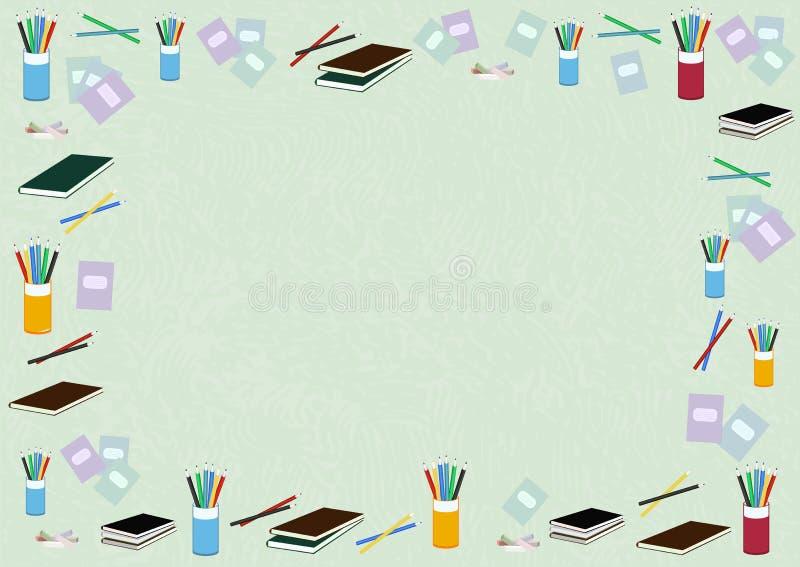 Härlig vektorbakgrund för en vykort för dag för ferielärare` s, affisch, baner som förpackar, utbildningsmaterial, med beståndsde royaltyfri illustrationer