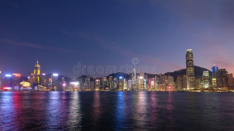 Härlig Victoria Harbour sikt, Hong Kong arkivbilder