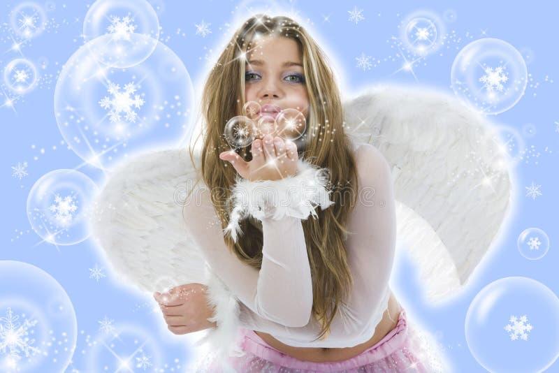 härlig vingkvinna royaltyfria foton