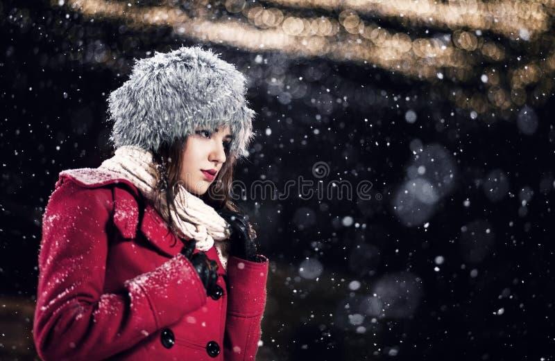 Härlig vinterstående fotografering för bildbyråer
