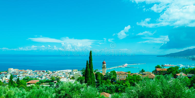 Härlig Zakynthos ö, Grekland royaltyfri bild