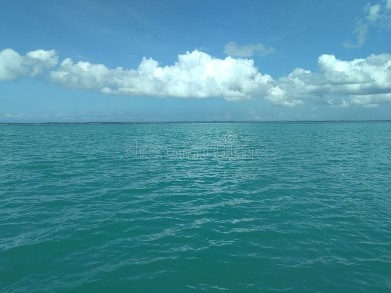 Härlig Zanzibar himmel arkivbild