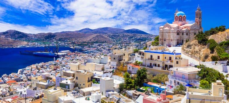 Härliga öar av Grekland - Syros, Cyclades royaltyfri bild