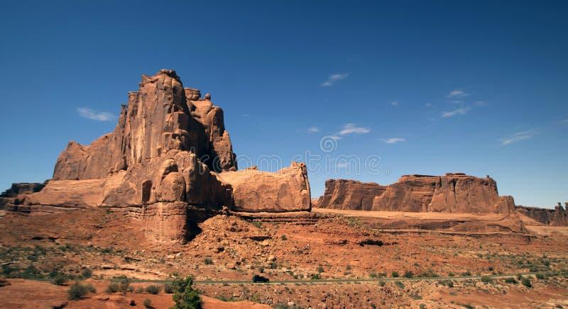 härliga ökenbildande landscape rocken arkivbilder