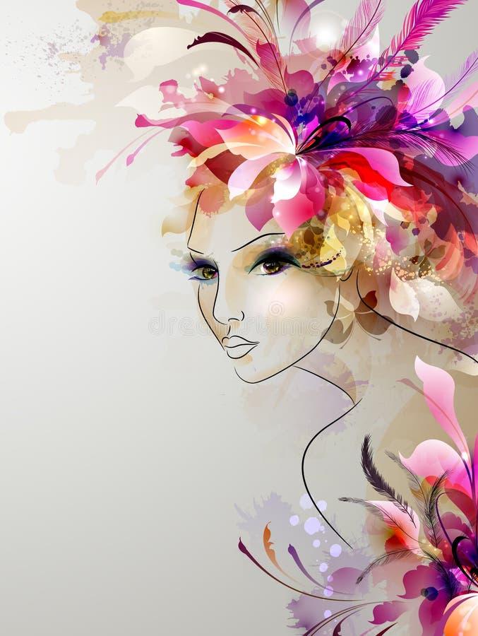 Härliga abstrakta kvinnor royaltyfri illustrationer
