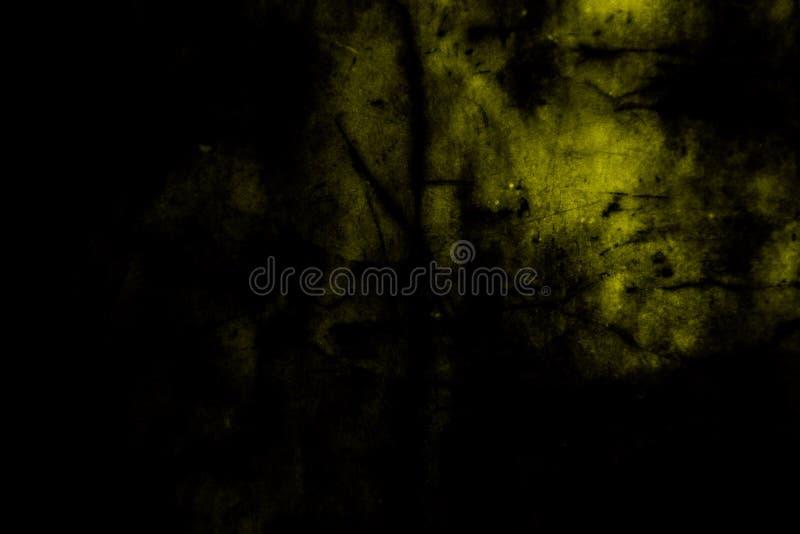 Härliga abstrakta yttersidatexturer färgar svart guld och gul bakgrund för golv för tegelplattor för granit gul den träoch och ta royaltyfria bilder