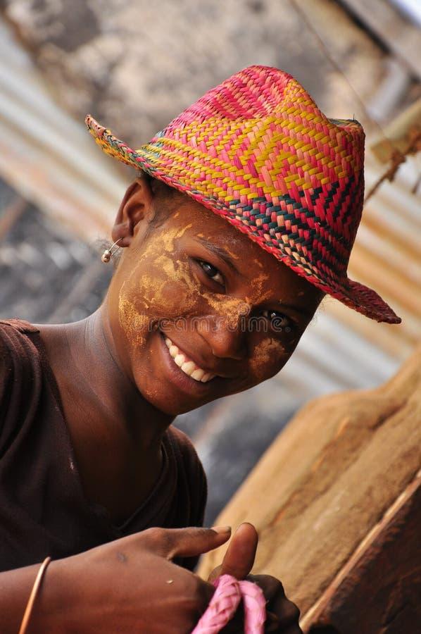 Härliga afrikanska kvinnor från Madagaskar fotografering för bildbyråer