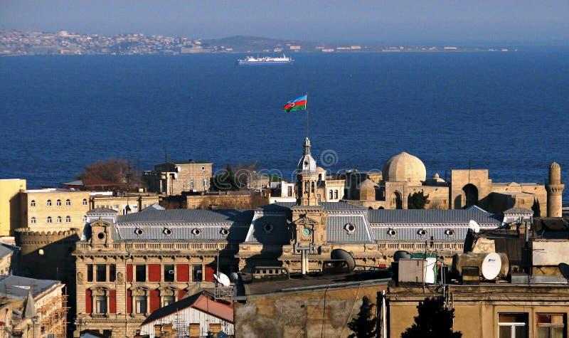 Härliga Baku (Baki) Azerbajdzjan royaltyfria bilder