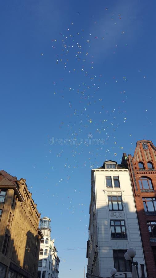 Härliga Ballons i Hamburg arkivfoton