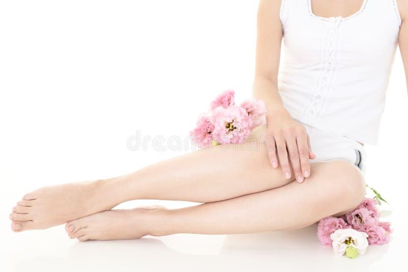 Härliga ben för kvinna` s royaltyfria foton
