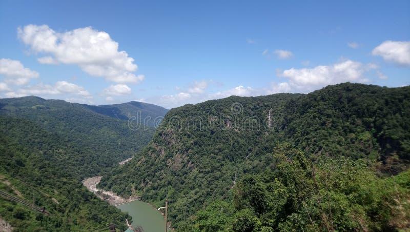 Härliga berg i västra ghats Indien royaltyfri fotografi