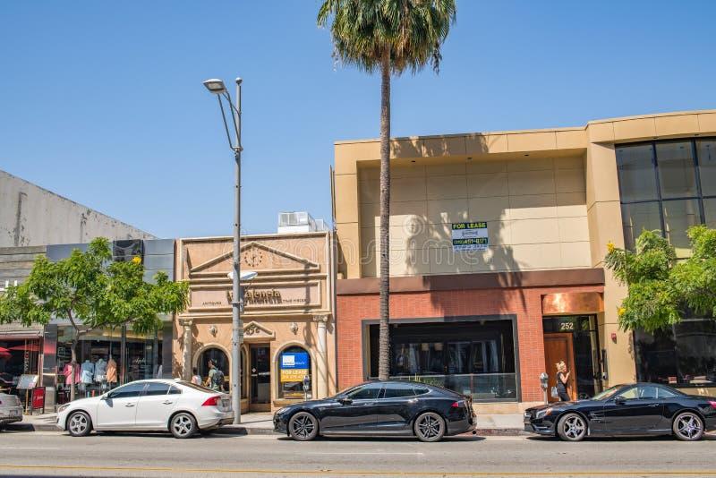 Härliga Beverly Hills, Kalifornien på en sommardag royaltyfri foto