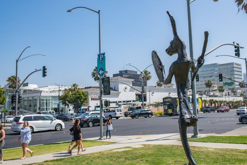 Härliga Beverly Hills, Kalifornien på en sommardag royaltyfria foton