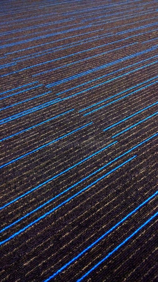 Härliga blått rev av texturerad matta med blålinjen arkivbilder
