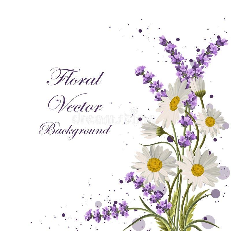 Härliga blommor med cirklar vektor illustrationer