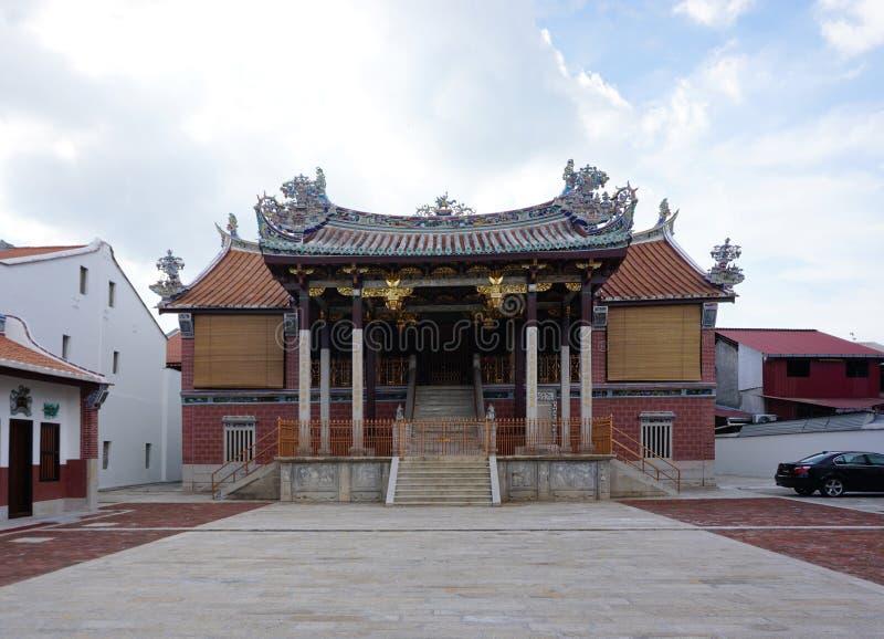 Härliga Boon San Tong Khoo Kongsi, i George Town, Penang royaltyfri foto