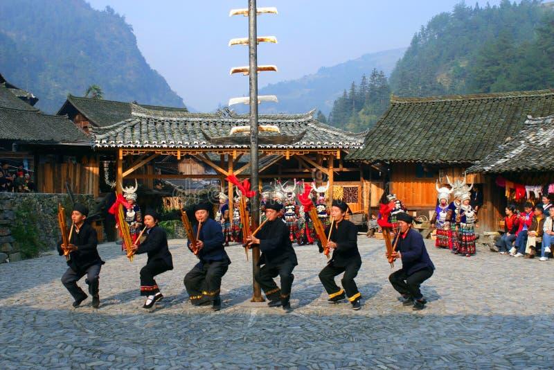 härliga byar för porslinguizhou original royaltyfri foto