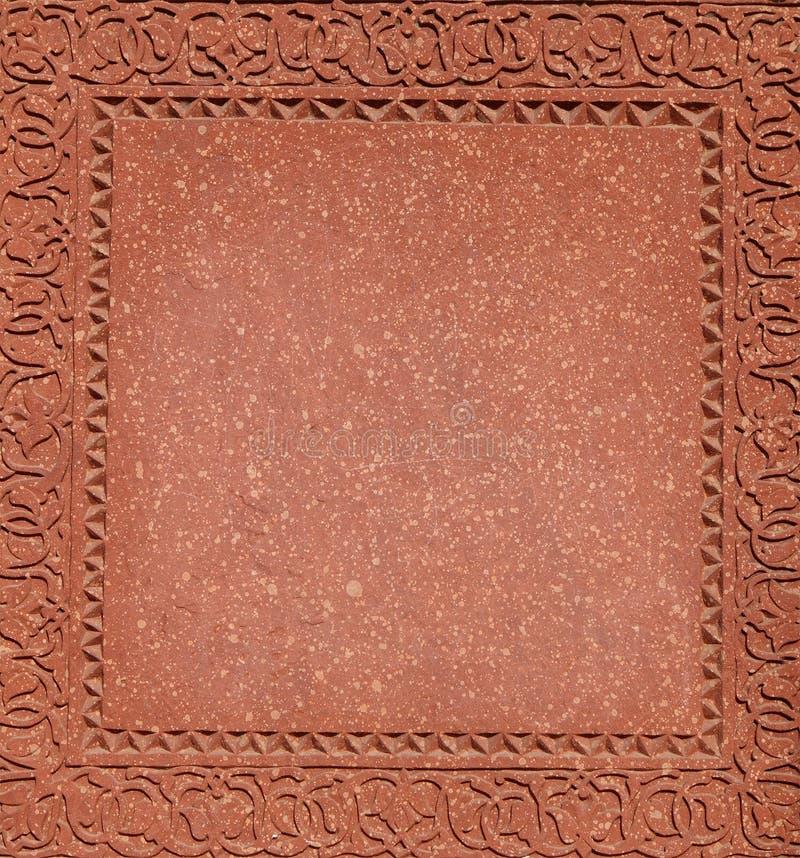 Härliga carvings på väggarna av det FatehPur Sikri komplexet fotografering för bildbyråer