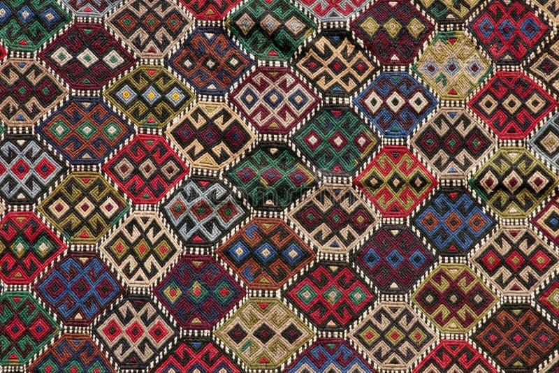 Härliga dekorativa handgjorda antika filtar arkivbilder