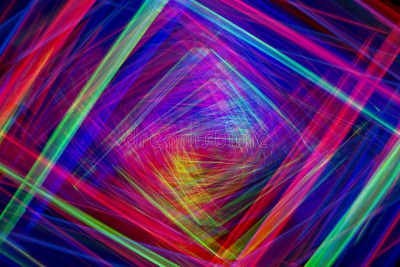 Härliga färgrika strålar för abstrakt ljus bakgrund stock illustrationer