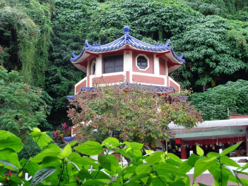 Härliga gamla taiwanes som bulding royaltyfri fotografi