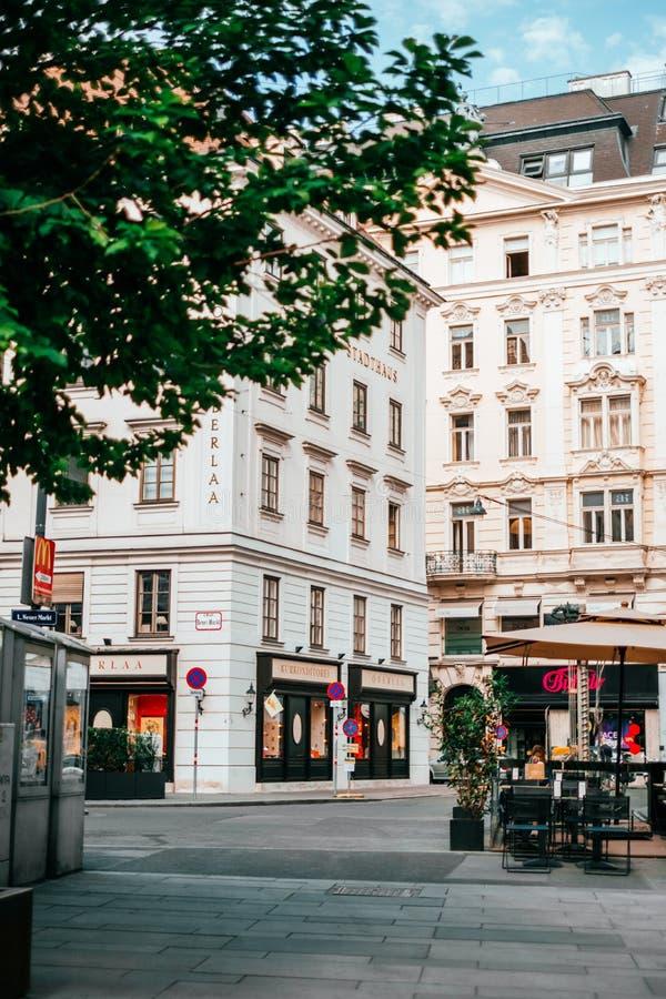 Härliga gator av Wien fotografering för bildbyråer
