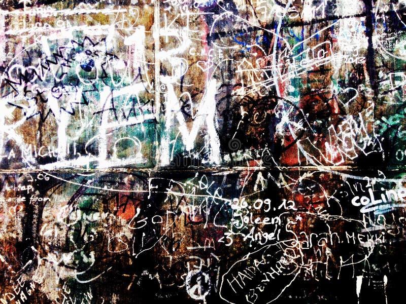 härliga grafitti royaltyfria foton