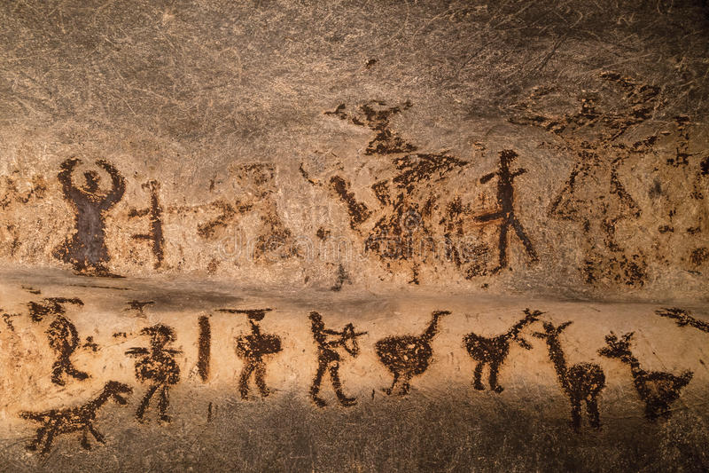 Härliga grottateckningar royaltyfri bild
