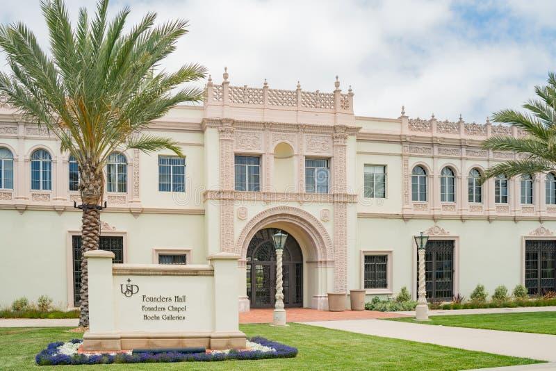 Härliga grundare Hall av universitetet av San Diego royaltyfria foton