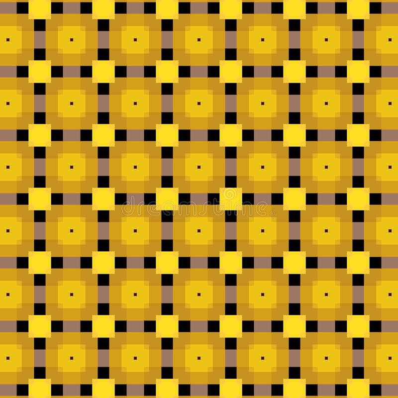 Härliga guld- kulöra fyrkant- och svartlinjer vektormodell med transprencyeffekter vektor illustrationer