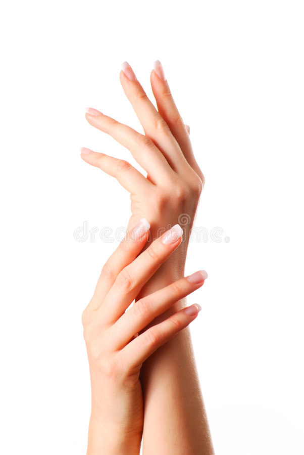 härliga händer royaltyfri foto