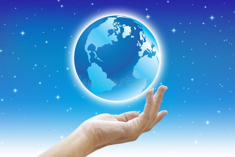 Härliga händer och värld fotografering för bildbyråer