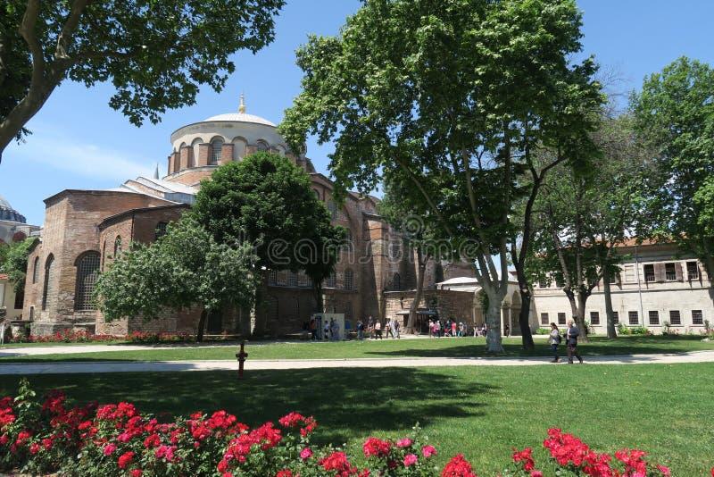 Härliga Hagia Irene - en tidigare östlig ortodox kyrka i det Topkapi slottkomplexet, Istanbul, Turkiet arkivbilder