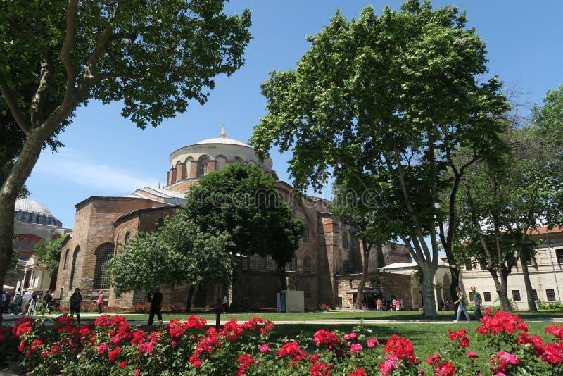 Härliga Hagia Irene - en tidigare östlig ortodox kyrka i det Topkapi slottkomplexet, Istanbul, Turkiet royaltyfri fotografi