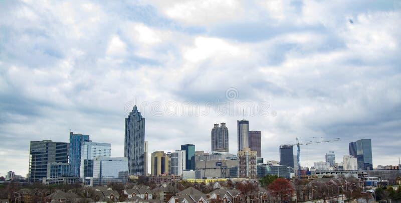 Härliga i stadens centrum Atlanta arkivbild