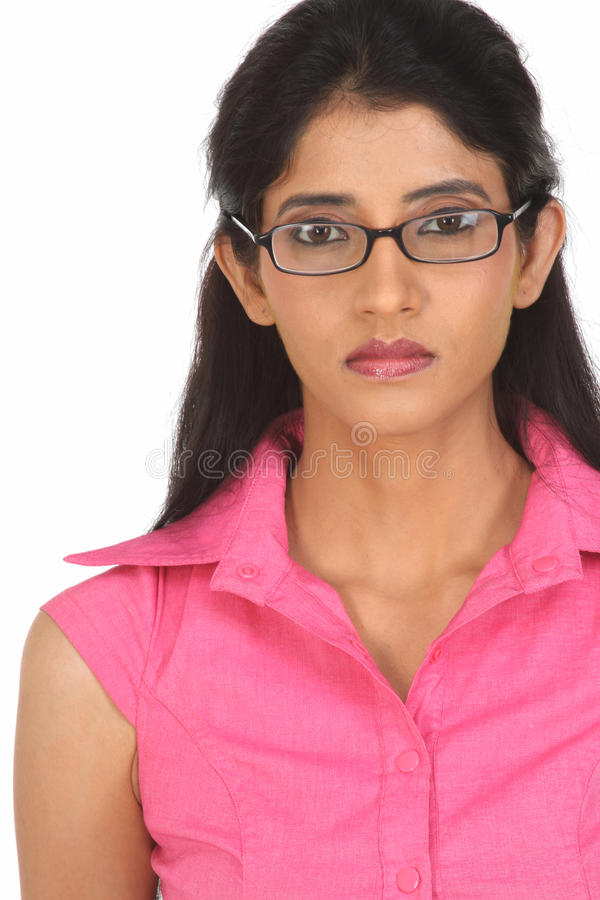 härliga indiska flickaexponeringsglas fotografering för bildbyråer