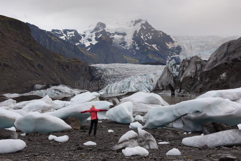 Härliga isberg i Island arkivfoto
