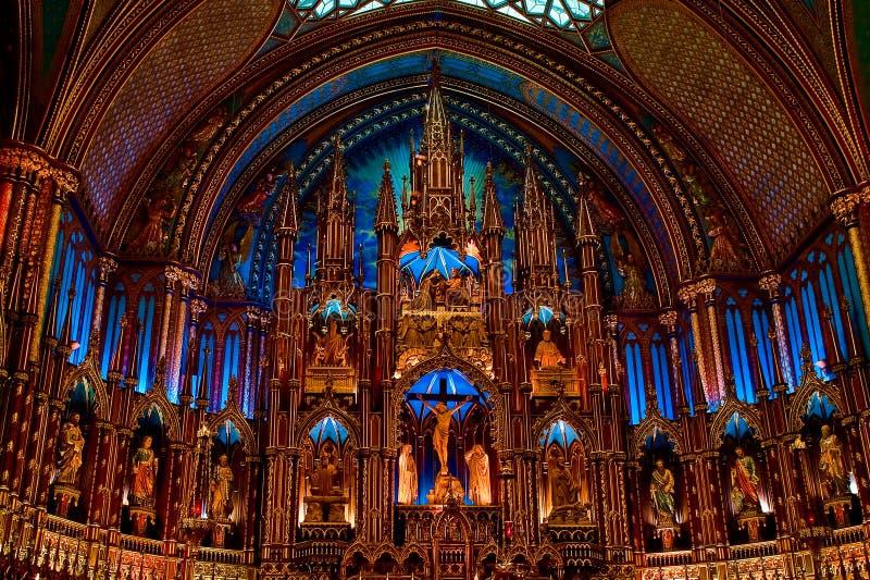 härliga kyrkliga montreal royaltyfri fotografi