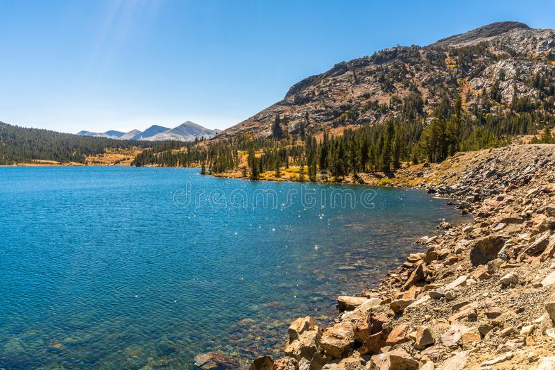 Härliga Lake Tahoe i Nevada arkivfoton