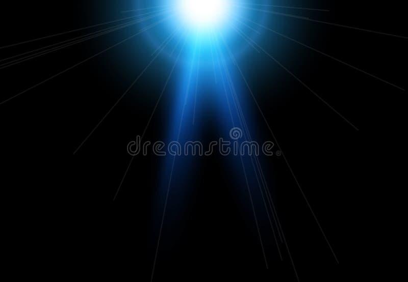 Härliga ljusa linssignalljus Belysningeffekter av exponeringen Stjärna med linssignalljuset och bokeheffekt stock illustrationer
