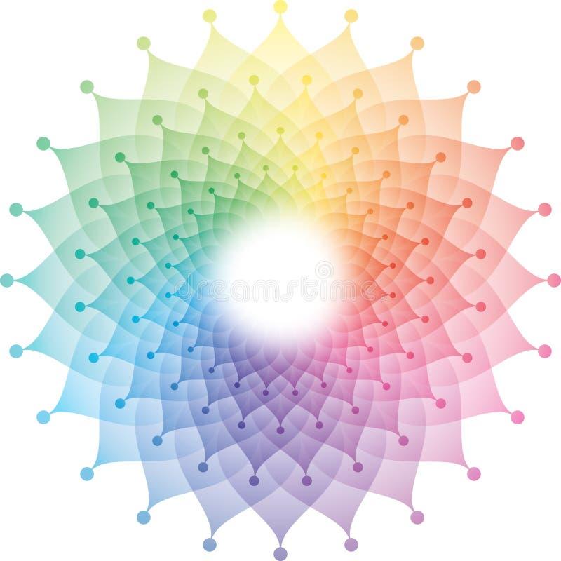 Härliga Lotus Flower Mandala Icon stock illustrationer