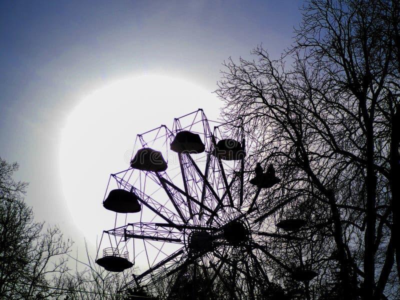 Härliga Luna Park i kalemegdan belgrade arkivbild