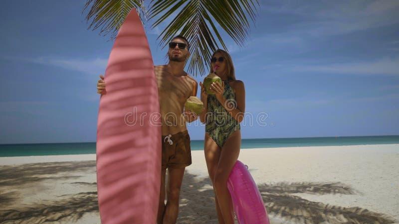 Härliga par under sommarferier fotografering för bildbyråer